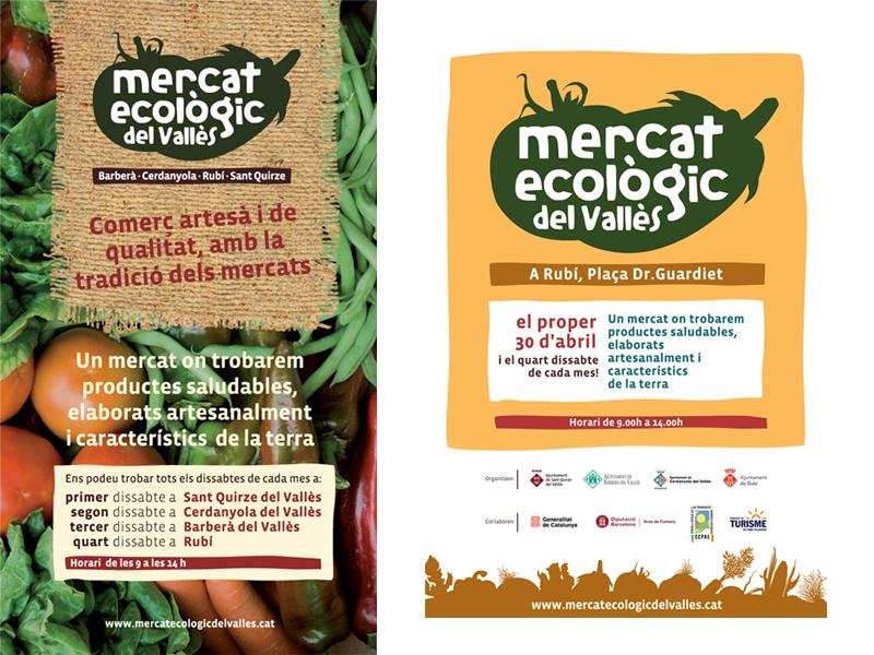Folletos del Mercat Ecològic del Vallès. Brochures. Fulletons.