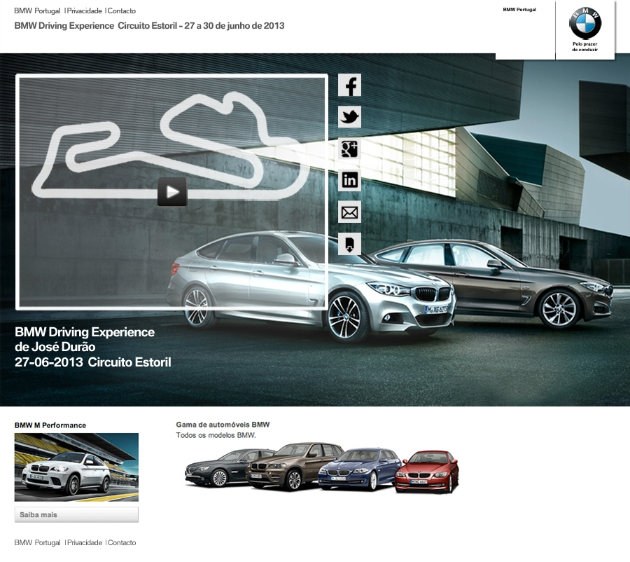 BMW Estoril event mini-site