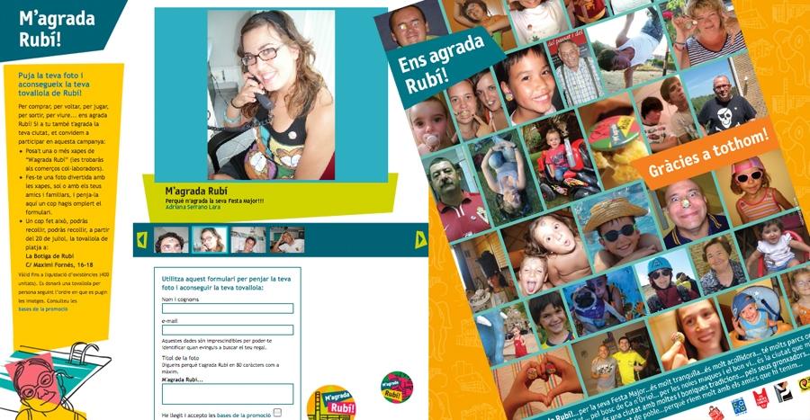 User-generated content, mini-site campaign