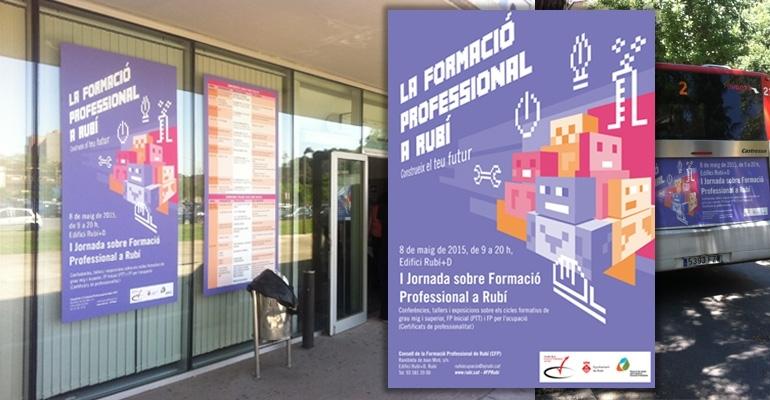 Ejecución campaña publicidad FP. Professional education promotion campaign. Campanya de promoció de la formació professional.