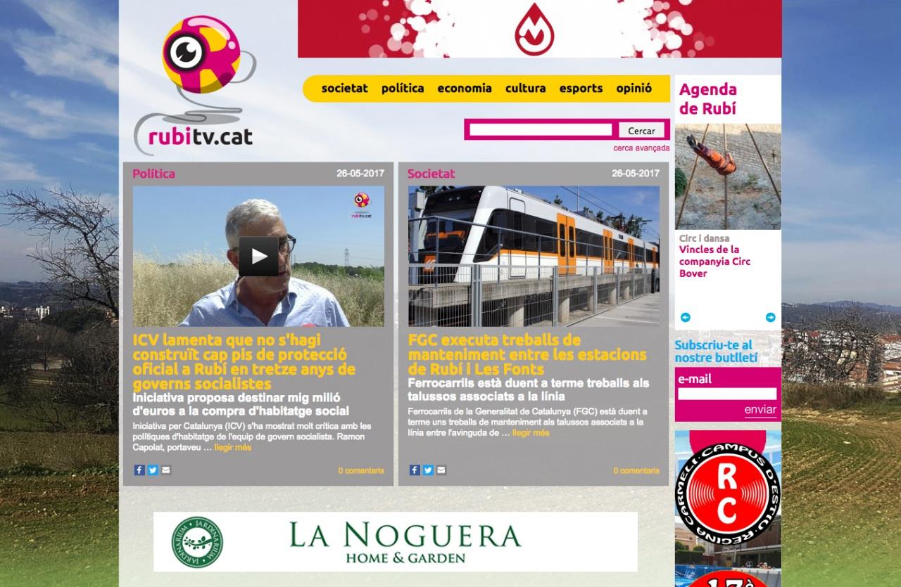 Rubí TV - UI design, disseny UI, diseño UI