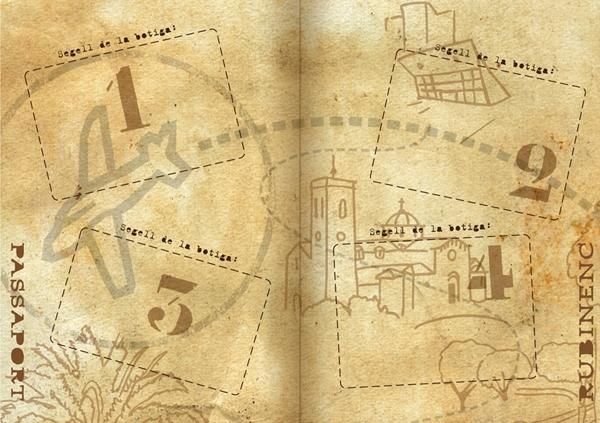 Illustration shopping fidelity passport booklet inner page 2