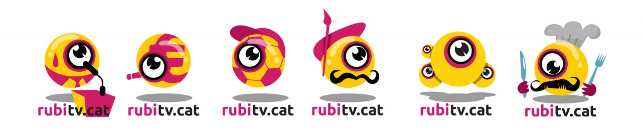 Dynamic logo of video news portal, logo dinamic de portal de notícies en vídeo. Logo dinámico de portal de vídeonoticias.