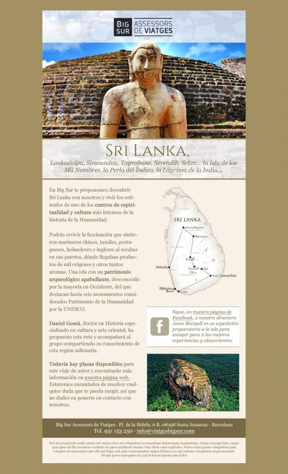 Sri Lanka e-Newsletter design