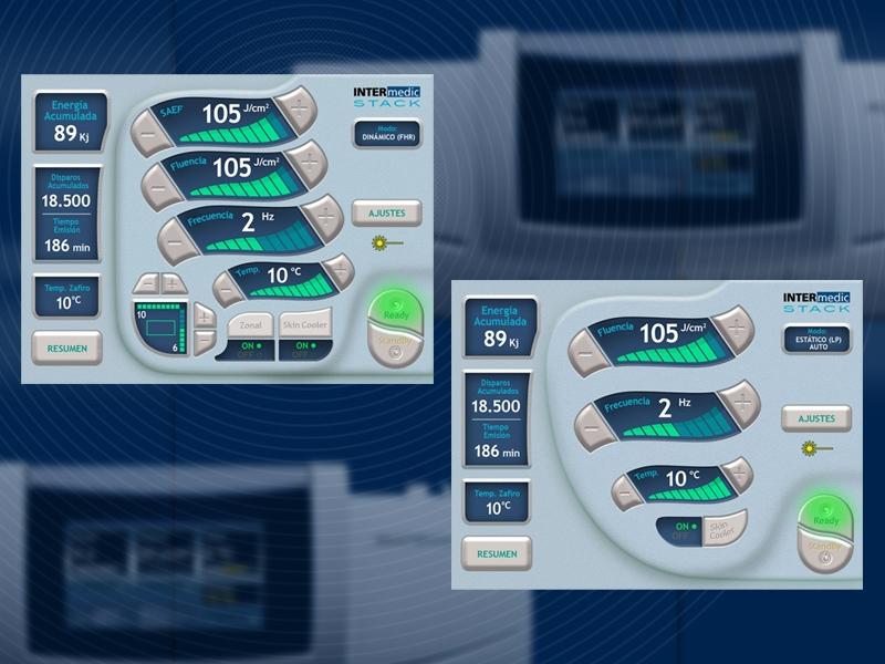Design of graphical User Interfaces mecial equipment. Diseño de UI equipos médicos. Disseny UI equips mèdics.