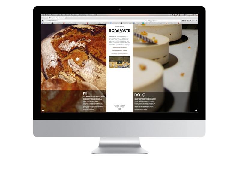 Bonparte's launch website