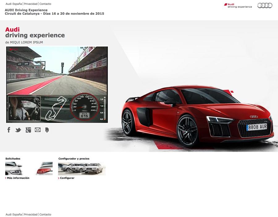 Audi R8 event mini-site